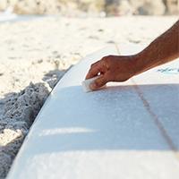 Surfboard waxen