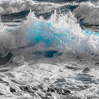 Welle und Gischt